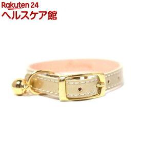 ペット用首輪 Mサイズ WO-027 ゴールド(1コ入)