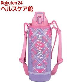サーモス 真空断熱スポーツボトル ピンクチェック FHT-1000F P-CH(1コ入)【サーモス(THERMOS)】[水筒]