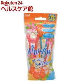 ハイビスカスディスポ ボディー用カミソリ(3+1本入)【貝印】