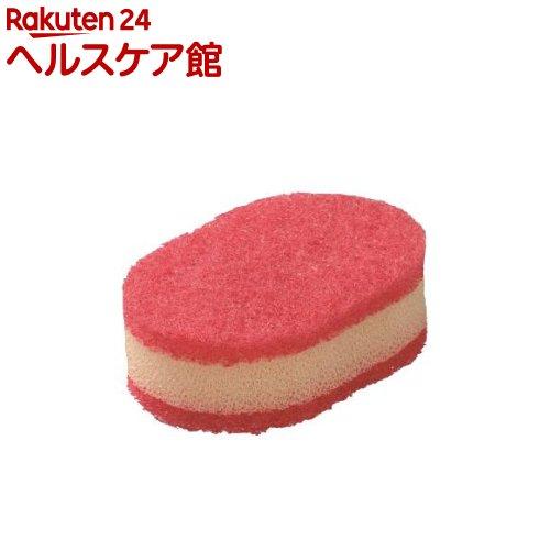 ラバーゼ la base スポンジ 赤*白 LB-023有元葉子デザイン(1コ入)【ラバーゼ】