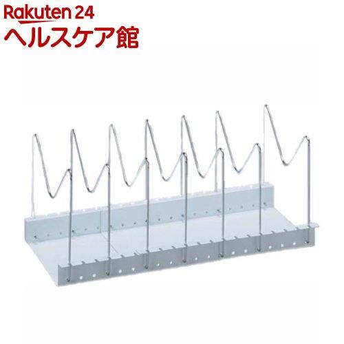 フライパン・鍋・ふた スタンド 伸縮タイプ 約29〜51*20.3*17.2cm ホワイト(1コ入)