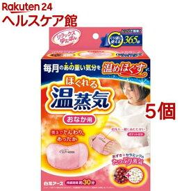 レンジでゆたぽん おなか用 ほぐれる温蒸気(5個セット)【レンジでゆたぽん】