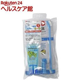 ペットキン 歯ブラシ2種類&歯磨き粉 3点セット 犬・猫用(1セット)【ペットキン】