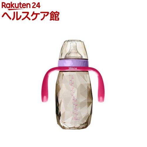 キッズミー PPSU製ダイヤモンドボトル 300mL ハンドル付 6ヶ月頃〜 ラベンダー(1コ入)【kidsme】