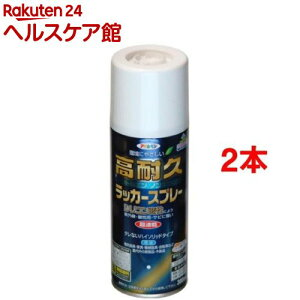 アサヒペン 高耐久ラッカースプレー 赤(300ml*2本セット)【アサヒペン】