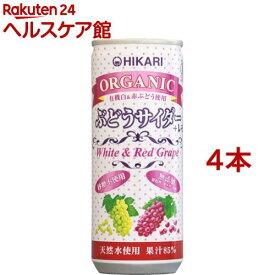 ヒカリ オーガニックぶどうサイダー+レモン(250ml*4コセット)
