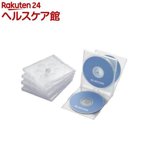 エレコム BLu-ray/DVD/CDケース 標準/PS/4枚収納 CCD-JSCNQ5CR(5枚入)【エレコム(ELECOM)】