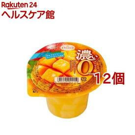 濃いマンゴーゼリー 0kcaL(195g*12コ)【たらみ】