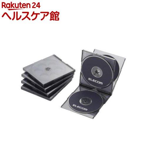エレコム BLu-ray/DVD/CDケース 標準/PS/4枚収納 CCD-JSCNQ5CBK(5枚入)【エレコム(ELECOM)】