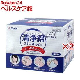 清浄綿 スキンフレッシュ(2枚*100包*2箱セット)