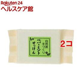 ねば塾 自然派手作り石鹸(化粧袋入り) ペパーミント(95g*2コセット)【ねば塾】