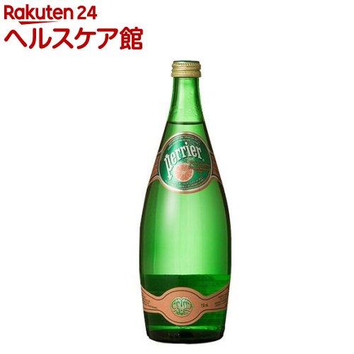 ペリエ ピンクグレープフルーツ グラスボトル(無果汁・炭酸水)(750mL*12本入)【ペリエ(Perrier)】[ピンク ミネラルウォーター 水]【送料無料】