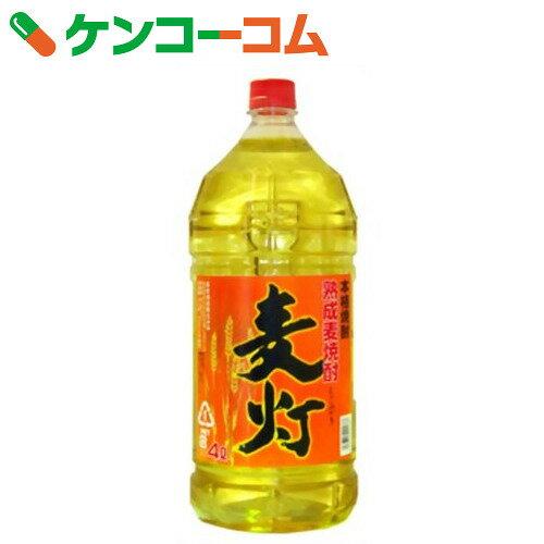 萬世酒造 かし樽麦製 麦灯 麦焼酎 25度 4L【送料無料】