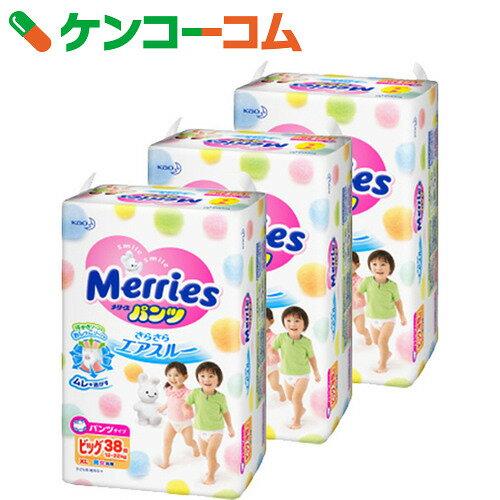 メリーズパンツ さらさらエアスルー ビッグサイズ 38枚×3個パック (114枚入り)【ko74td】【送料無料】