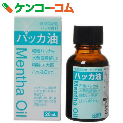食品添加物 ハッカ油 20ml【3_k】