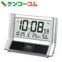 セイコー ハイブリッドソーラー 電波時計(温度・湿度表示付き/シースルー置時計) SQ690S[セイコー 電波時計]【送料無料】