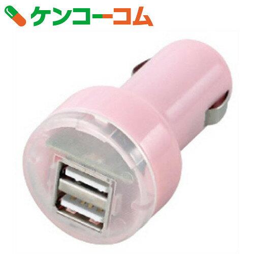 【訳あり】シガーソケット・USBチャージャー AY-2003 ピンク