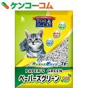 フォーキャット ペーパーズグリーン ひのきの香り 7L[新東北化学工業 猫砂・ネコ砂(紙・パルプ)]