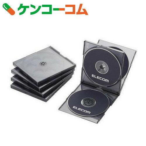 エレコム Blu-ray/DVD/CDケース(標準/PS/4枚収納) 5枚セット ブラック CCD-JSCNQ5CBK[エレコム CD・DVDケース]
