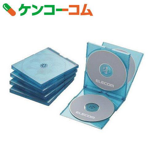 エレコム Blu-ray/DVD/CDケース(標準/PS/4枚収納) 5枚セット クリアブルー CCD-JSCNQ5CBU[エレコム CD・DVDケース]