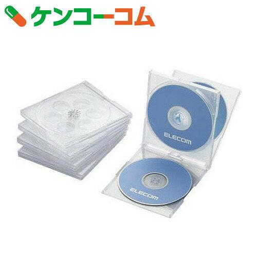 エレコム Blu-ray/DVD/CDケース(標準/PS/4枚収納) 5枚セット クリア CCD-JSCNQ5CR[エレコム CD・DVDケース]