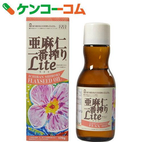 紅花食品 亜麻仁一番搾り ライト(アマニ油) 170g