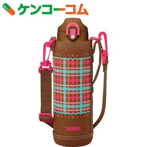 サーモス 真空断熱2WAYボトル FHO-1000WF CHBR チェックブラウン 1.0L[サーモス水筒 ステンレスボトル]【thbr12】【送料無料】