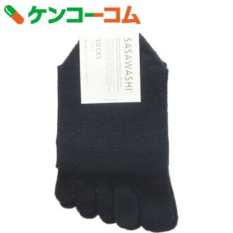 sasa日本纸女士5部手指袜子黑色[sasa和紙五本指的袜子]