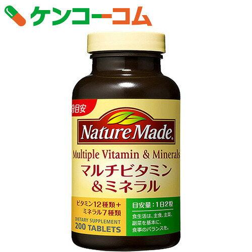 ネイチャーメイド マルチビタミン&ミネラル ファミリーサイズ 200粒【1_k】