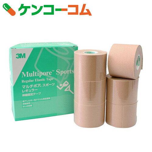 3M マルチポア スポーツ レギュラー 粘着性伸縮固定テープ 50mm×5m 6ロール