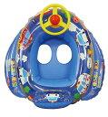ミニカーボート ブルー[夏 子供 プール ビーチ アウトドア](浮き輪 ボート フロート 足入れ 幼児 ベビー キッズ Kids 浮輪 うきわ 浮きわ)
