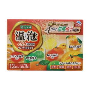 [アース製薬] 温泡 ONPO とろり炭酸湯 ぜいたく柑橘柚子 12錠入