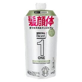 花王 メンズビオレONE オールインワン全身洗浄料 ハーブルグリーンの香り 詰替用 340ml