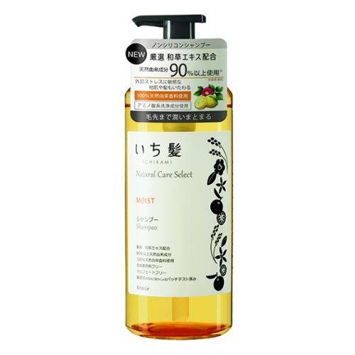 いち髪 ナチュラルケアセレクト モイスト(毛先まで潤いまとまる) シャンプーポンプ480ml シトラスフローラルの香り クラシエ(Kracie)