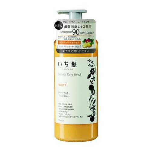 いち髪 ナチュラルケアセレクト モイスト(毛先まで潤いまとまる) トリートメントポンプ480g シトラスフローラルの香り クラシエ(Kracie)