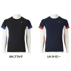 MIZUNO ラッシュガード(半袖) [N2JC8110] [水泳] [スイム] [プール] [日焼け防止] [メンズ]