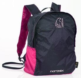 【国内正規品】NORDISK ポケッタブルバッグ Nibe 12L(ニベ)Pink/Black[133019](リュック バック 鞄 ノルディスク バックパック リュックサック アウトドア キャンプ用品 アウトドア特集)【kenko1710】【SUMMER_D18】