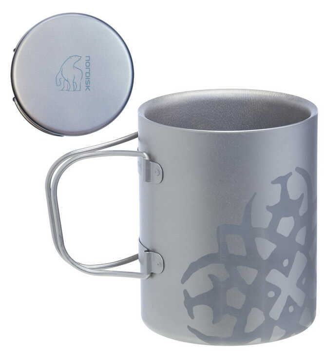 ノルディスク チタニウム ダブルウォール マグカップ 450ml NORDISK Titanium Mug Double-Wall 450 [119031] (キャンプ用品 キャンプ用食器 アウトドア)【SUMMER_D18】