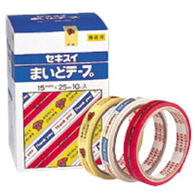 【ゆうパケット配送対象】まいどテープ [C50X11] 1巻 本体色:赤(販売確認用テープ レジ用品)(ポスト投函 追跡ありメール便)