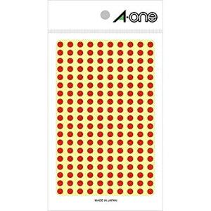 【ゆうパケット配送対象】カラーラベル [07061] 1P9シート(1800片) 丸型5mm径 本体色:赤 (ラベルシール シール)(ポスト投函 追跡ありメール便)