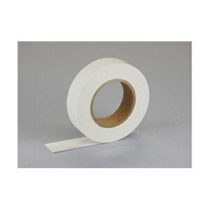 【ゆうパケット配送対象】紙自着テープ 白 25mm幅 x 20m [テープカッター付き] x 1巻入り(ノリが付かない不思議な紙テープ)(ポスト投函 追跡ありメール便)