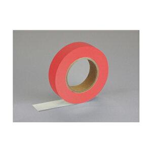 【ゆうパケット配送対象】紙自着テープ 赤 25mm幅 x 20m [テープカッター付き] x 1巻入り(ノリが付かない不思議な紙テープ)(ポスト投函 追跡ありメール便)