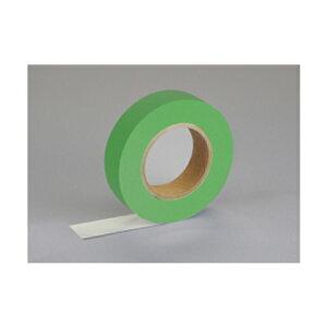 紙自着テープ 緑 25mm幅 x 20m [テープカッター付き] x 6巻入り(ノリが付かない不思議な紙テープ)