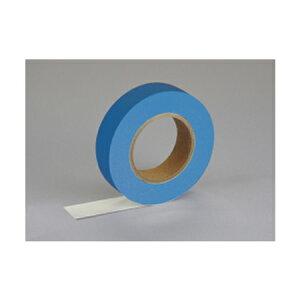 紙自着テープ 青 25mm幅 x 20m [テープカッター付き] x 6巻入り(ノリが付かない不思議な紙テープ)