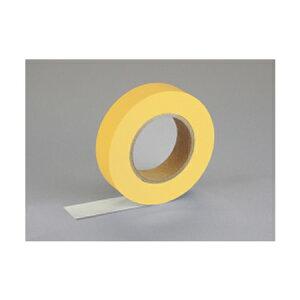 紙自着テープ 黄 25mm幅 x 20m [テープカッター付き] x 6巻入り(ノリが付かない不思議な紙テープ)