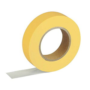 【ゆうパケット配送対象】紙自着テープ 黄 15mm幅 x 20m [テープカッター付き] x 1巻入り(ノリが付かない不思議な紙テープ)(ポスト投函 追跡ありメール便)