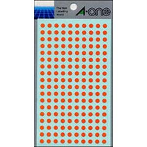 【ゆうパケット配送対象】カラーラベル [07065] 1P9シート(1800片) 丸型5mm径 本体色:橙(ラベルシール シール)(ポスト投函 追跡ありメール便)
