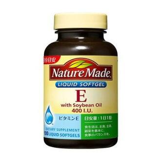 大冢製藥自然傭人維生素E400家庭適用的尺寸100粒