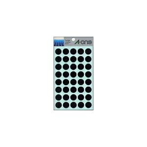 【ゆうパケット配送対象】カラーラベル [07029] 1P14シート(560片) 丸型15mm径 本体色:黒 (ラベルシール シール)(ポスト投函 追跡ありメール便)
