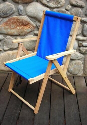 【送料無料】Blue Ridge Chair Works(ブルーリッジチェアワークス)ハイランドデッキチェア アトランティックブルー [DFCH05WA](アウトドア キャンプ チェア 椅子 いす イス 折りたたみ 折り畳み アウトドア